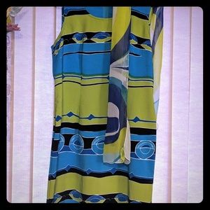 Bright and funky just below the knee dress.